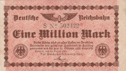Billet De Eine Millionen Mark  - Stadt BERLIN - 1923 - [ 3] 1918-1933 : Weimar Republic