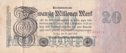 Billet De Zwanzig Millionnen Mark - Stadt BERLIN - 1923 - [ 3] 1918-1933 : République De Weimar