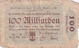 Billet De 100 Milliarden Mark - Stadt BUER - 1923 - [ 3] 1918-1933 : Weimar Republic