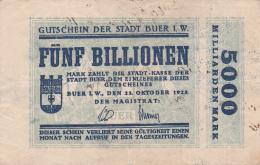 Billet De 5000 Milliarden Mark - Stadt BUER - 1923 - [ 3] 1918-1933 : Weimar Republic