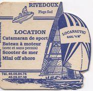 SOUS-BOCK Coaster - Locanautic Rivedoux Plage Sud  (rien Au Dos) - Beer Mats