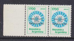Argentina 1982 Las Malvinas Son Argentinas 1v (pair) ** Mnh (37174A) - Argentinië