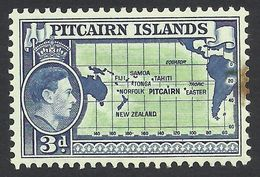Pitcairn Islands, 3 P. 1940, Sc # 5, Mi # 5, MH. - Timbres