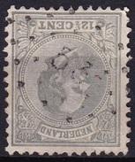 Puntstempel 53 (Den Helder) Op 1872 Koning Willem III 12½ Cent Grijs NVPH 22 H - Poststempels/ Marcofilie