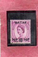 QATAR 1960 QUEEN ELIZABETH II REGINA ELISABETTA SURCHARGED SOPRASTAMPATO 40NP ON 6p USED USATO OBLITERE' - Qatar