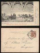SIENA -  PALAZZO COMUNALE -  LA BATTAGLIA DI S.MARTINO - VIAGGIATA NEL 1904 - Siena