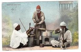EGYPTE - Cafetier Ambulant - Carte Colorisée - MÉTIER - MARCHAND AMBULANT - Ed. Lichtenstern & Harari, Cairo N°151 - Abu Kabir
