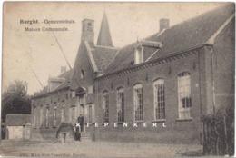 UNIEKE POSTKAART VAN BURGHT BURCHT ANNO 1930 GEANIMEERD GEMEENTEHUIS - MAISON COMMUNALE - Zwijndrecht