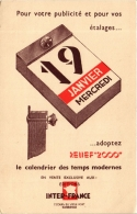 CPA Relief 2000 INTER-FRANCE Le Calendrier 7, Cours Du Vieux Port MARSEILLE Publicite (a4802) - Marseille