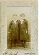 Photo Sur Carton - CDV - Delescole, Mont De Marsan - Deux Enfants - Personnes Anonymes