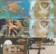 JOLI PETIT LOT 6 CARTES DIFFERENTES - Comoros