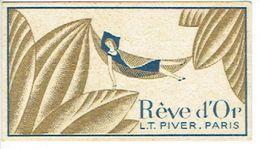 Carte Parfumée L.T. PIVER - REVE D'OR - Parfumerie Des Artistes à LIEGE - Perfume Cards