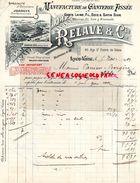 69- LYON VAISE- FACTURE RELAVE & CIE-MANUFACTURE GANTERIE TISSEE-GANTS LAINE SOIE- SATIN-45 RUE ST PIERRE DE VAISE- 1909 - Textile & Clothing
