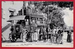 """TOP Collection & Rare CPA 15 MONTSALVY Cantal L'AUTOBUS Arrivant D'Entraygues (Poste Postes)  """"L'Auvergne Pittoresque"""" - Sonstige Gemeinden"""
