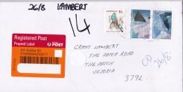 Australia 2016 Domestic Registered Letter With 45c AAT 1996 Landscapes Pair - 2010-... Elizabeth II
