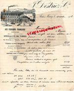59- PONT A MARCQ- RARE LETTRE MANUSCRITE SIGNEE J. DESTRIEZ- 1903-AUX FABRIQUES FRANCAISES-TISSUS MARQUE CLEMENT-ROUBAIX - Textile & Clothing