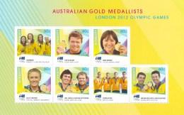 Australia 2012 Gold Medallists Olympic Games Set As Block Of 7 MNH - 2010-... Elizabeth II