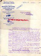 37- AMBOISE- RARE LETTRE PEZON & MICHEL & SEILLIER REUNIS-MANUFACTURE ARTICLES DE PECHE- PARIS-ROBUSTE-1926 - Old Professions