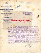 37- AMBOISE- RARE LETTRE PEZON & MICHEL  -MANUFACTURE ARTICLES DE PECHE- PARIS-ROBUSTE-1930 - Old Professions