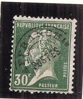 France   - Préoblitéré N ° 66 Pasteur 30cts Vert Côte 7,00€ - 1893-1947