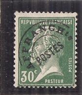 France   - Préoblitéré N ° 66 Pasteur 30cts Vert Côte 7,00€ - Préoblitérés