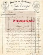 52- LUZY PAR CHAUMONT- RARE LETTRE MANUSCRITE SIGNEE JULES CONGE- FABRIQUE COUTELLERIE-TRANCHETS CORDONNIER PEINTRE-1898 - France