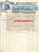 10- ROMILLY SUR SEINE- RARE FACTURE EMILE BOUDIOS & FILS- FABRIQUE BAS A VARICES-20 RUE SAINTE COLOMBE- 1902 - Textile & Clothing