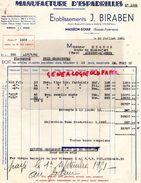 64- MAULEON SOULE- RARE FACTURE ETS. J. BIRABEN- MANUFACTURE ESPADRILLES-CHAUSSURES-1951- M. MIGNON AUBIGNY SUR NERE - Textile & Clothing