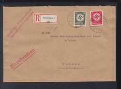 Dt. Reich Geheime Staatspolizei Brief Regensburg 1937 Nach Passau - Dienstpost
