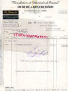 69- VILLEFRANCHE SUR SAONE- FACTURE DUBURE & DEVERCHERE-MANUFACTURE VETEMENTS TRAVAIL-LE FAVORI-LE TRES SOUPLE-1952 - Textile & Clothing