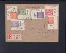 SBZ R-Brief Leipzig Eckrandstücke 1946 - Sowjetische Zone (SBZ)