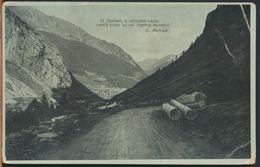 °°° 10364 - PANORAMA CON VERSI DI G. MARRADI - 1918 °°° - Filosofia & Pensatori