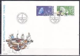 Sweden (1984):- Viking Satellite (Set):- FDC - FDC