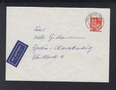Alliierte Besetzung Brief 1953 Luftpost Frankfurt Nach Berlin EF - Bizone