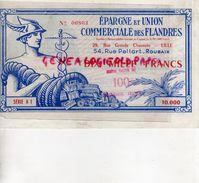 59- LILLE-ROUBAIX- BILLET DIX MILLE FRANCS EPARGNE ET UNION COMMERCIALE DES FLANDRES-1959 1961 - France