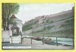 * Namur - Namen (La Wallonie) * (EDN VO-DW Anvers, Couleur) La Sambre Et La Citadelle, Canal, Bateau, Péniche, Boat, TOP - Namur
