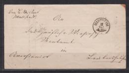Baden Faltbriefhülle 1869 Von Mannheim Mit Rs Transir-o Weinheim Und Weinheim/Postablage Grosssachsen - Bade