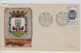 1962 FDC 1301 Escudo De Alava Vitoria. Primer Dia Wappen - FDC