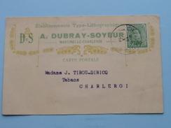 Briefkaart / Carte Postale : Stamp MARCINELLE ( Dubray-Soyeur ) 1919 > CHARLEROI ( J. Tirou Tabacs ) - ( Zie Foto's ) ! - Postales [1909-34]