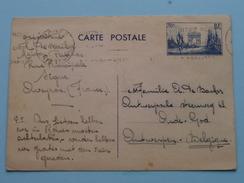 Briefkaart / Carte Postale : Stamp RODEZ ( Ségur-Aveyron )De Backer 1940 > OUDE GOD ( De Backer - Antwerpen ! - Cartes Postales [1934-51]