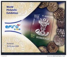 ROMANIA 2007 EFIRO Stamp Exhibition Block   MNH / **.  Michel Block 408 - 1948-.... Republics