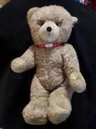 Jeu Jouet Ours En Peluche 1950-60 Marron Clair Bruit Dans Le Corp - Teddybären