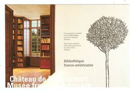 02 - CHATEAU DE BLÉRANCOURT MUSÉE FRANCO AMÉRICAIN BIBLIOTHEQUE - MARC POIRIER - NON CIRCULÉE - 2 Scans - Autres Communes