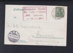 Dt. Reich Ballonfahrt  Löhne 1902 - Luftpost