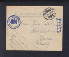 Dt. Reich Kriegsgefangenenlager Crefeld Brief 1914 Nach Zürich - Deutschland