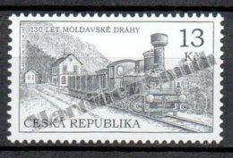 Czech Republic - Tcheque 2015 Yvert 772, Transport, 130th Anniv. Of The First Railway Ligne At Moldova - MNH - Tchéquie