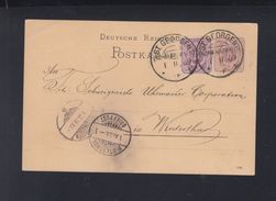 Dt. Reich GSK Mit ZUF St. Georgen Vordruck Uhrenfabrik 1889 Nach Zürich - Germany