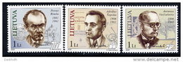 LITHUANIA 2006 Personalities Set Of 3 MNH / **.  Michel 895-97 - Lithuania