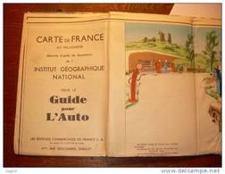 08Y - Carte Géographique Publicitaire Pneumatique Dunlop France Années 50 - 60 - Maps