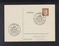 Dt. Reich PK 1942 Sonderstempel Mit Hitler In Coburg - Briefe U. Dokumente